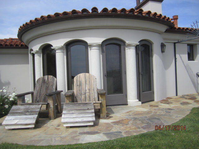 Custom Made Arched Wood Screen Doors in Malibu