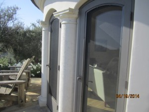 Custom Made Arched Wood Screen Doors installed in Malibu