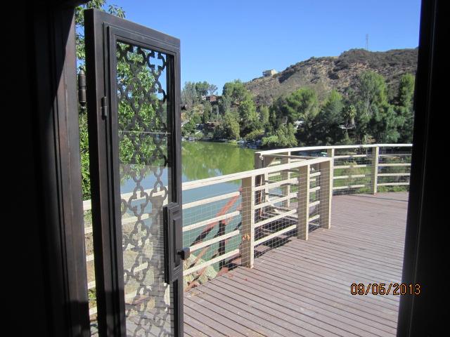 Retractable Screen Doors in Malibu Lake Home