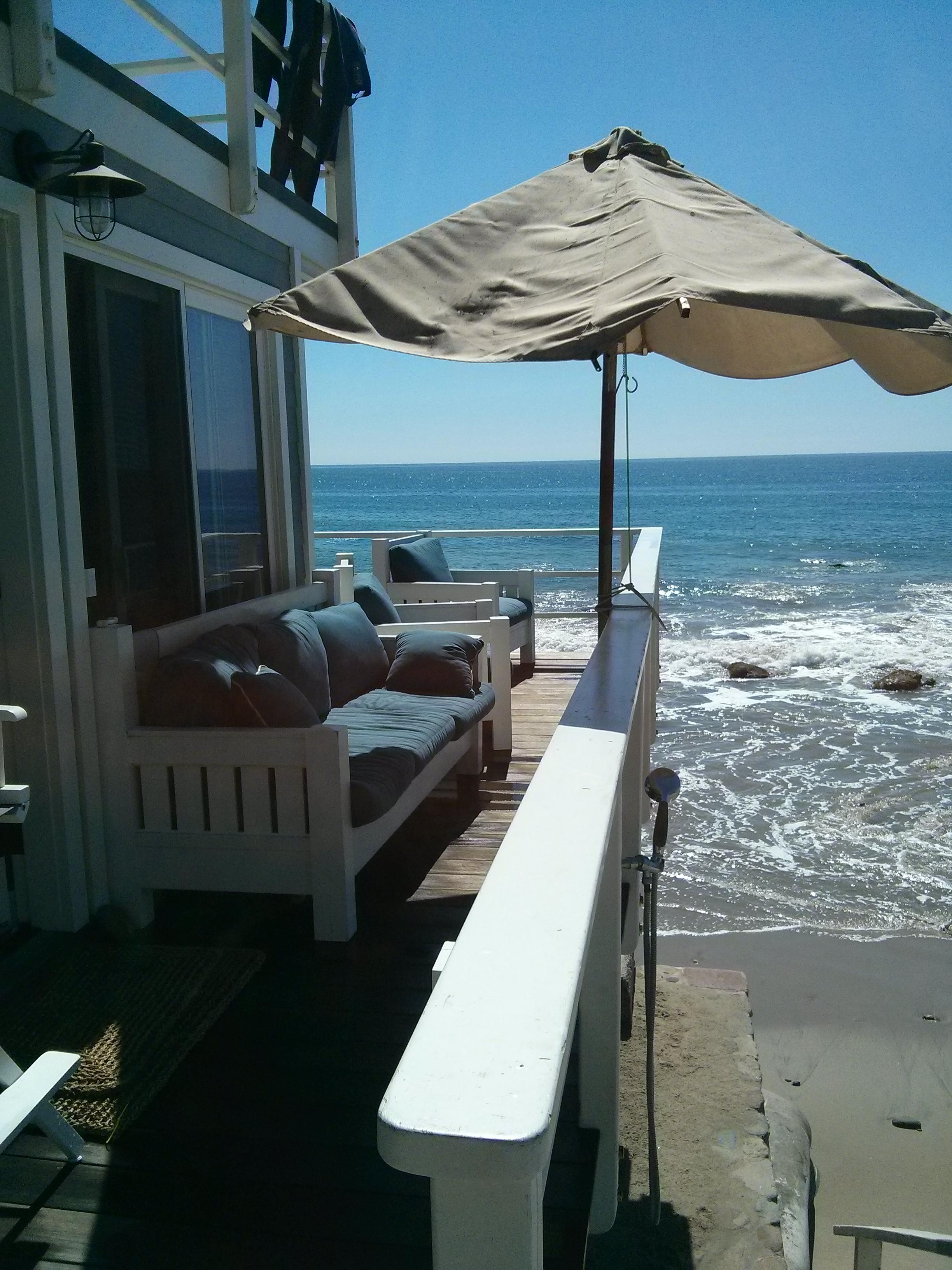 Screen Doors in Malibu Summer Beach House