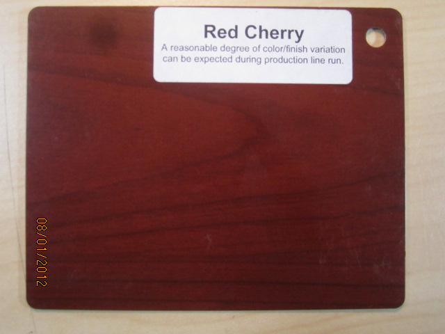 Wood Color Plates Red Cherry