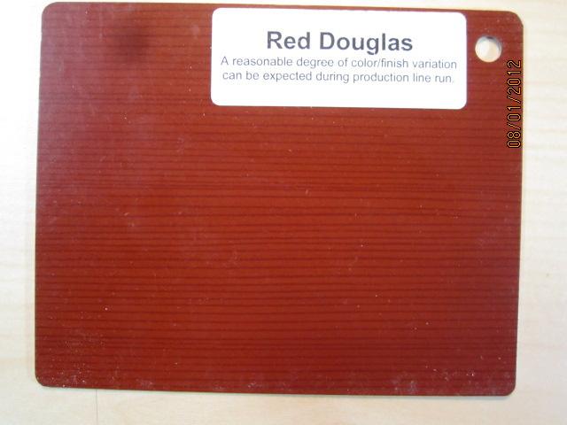 Wood Color Plates Red Douglas
