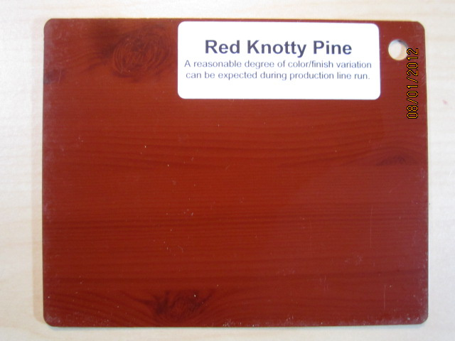 Wood Color Plates Red Knotty Pine
