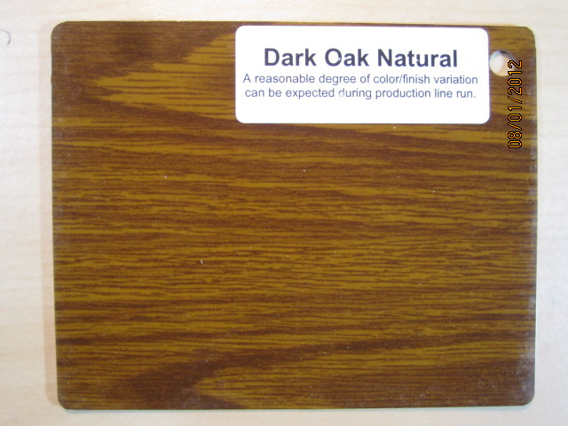 Wood Color Plates Dark Oak Natural