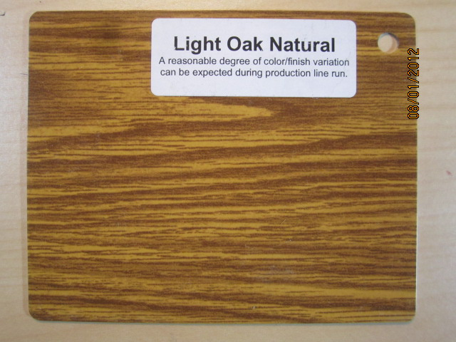 Wood Color Plates Light Oak Natural