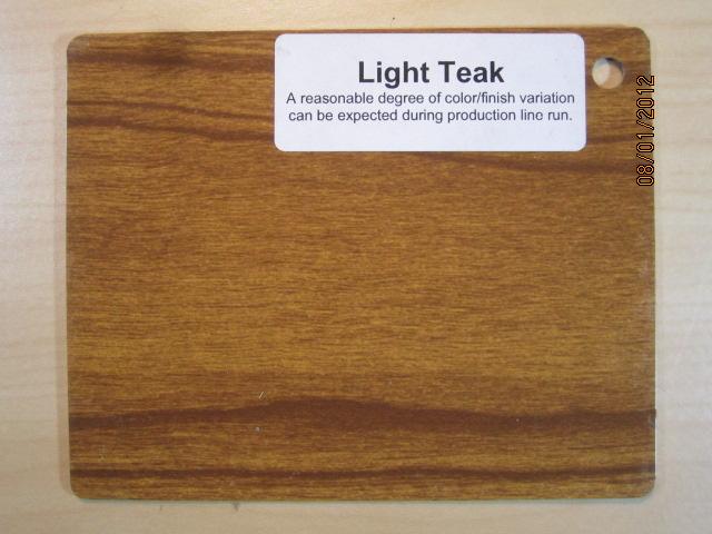 Wood Color Plates Light Teak