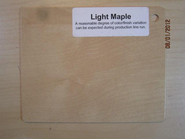 Wood Color Plates Light Maple
