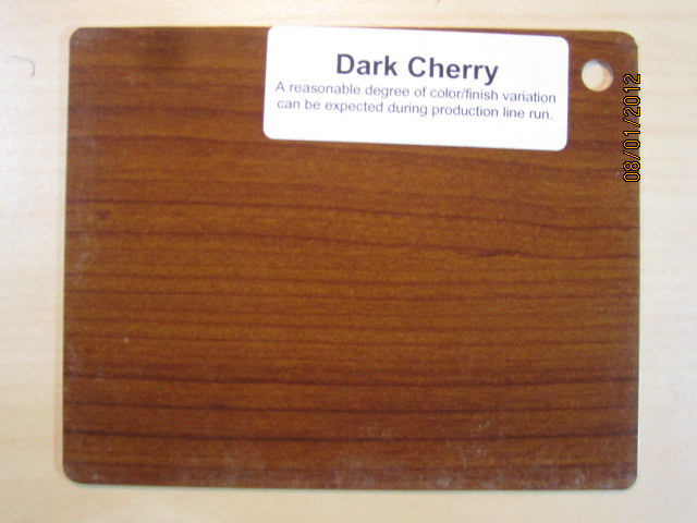 Wood Color Plates Dark Cherry