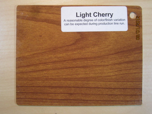 Wood Color Plates Light Cherry