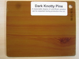 Wood Color Dark Knotty Pine