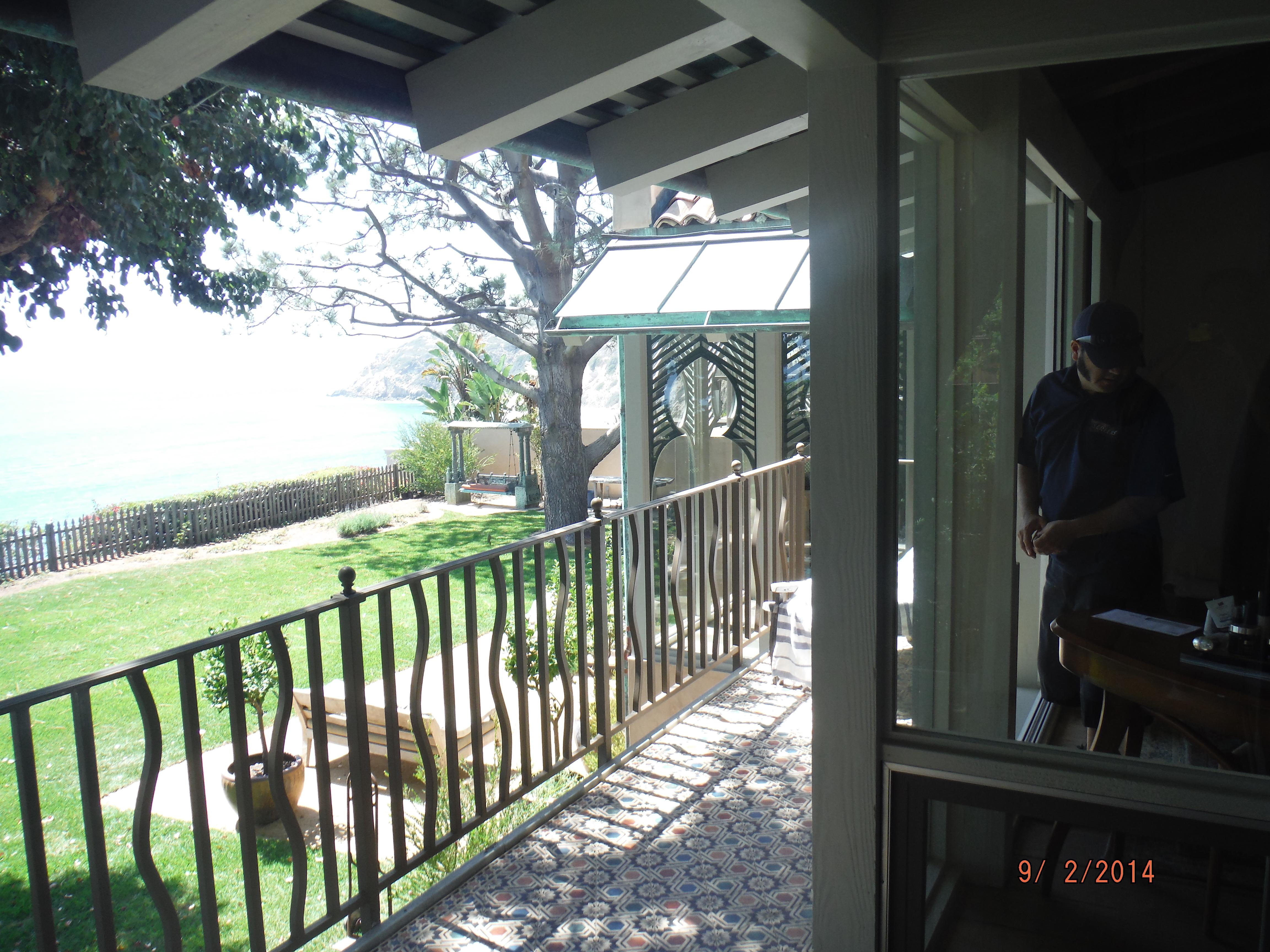 "Custom Made 108"" Single Retractable Screen Doors in Malibu"