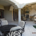 Three Double Set French Doors of High End Double Retractable Screen Doors in Back Yard