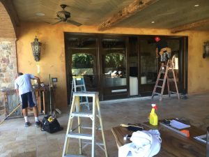 Installation of Motorized Retractable Screen in Calabasas
