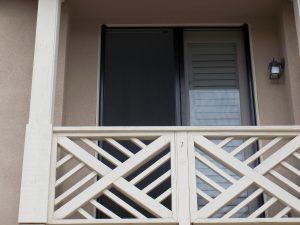Outside View of Open Retractable Screen Doors