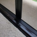 Bottom Sill and Rail for Double Set of Retractable Screen Doors
