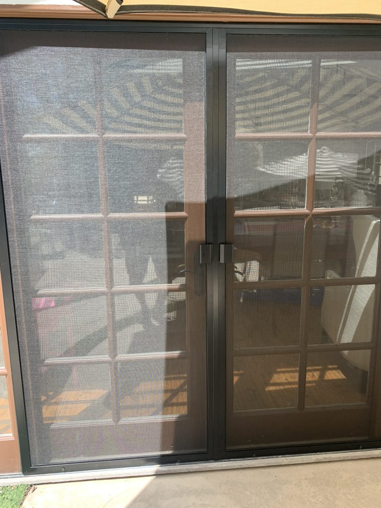 Black screen doors in Agoura Hills