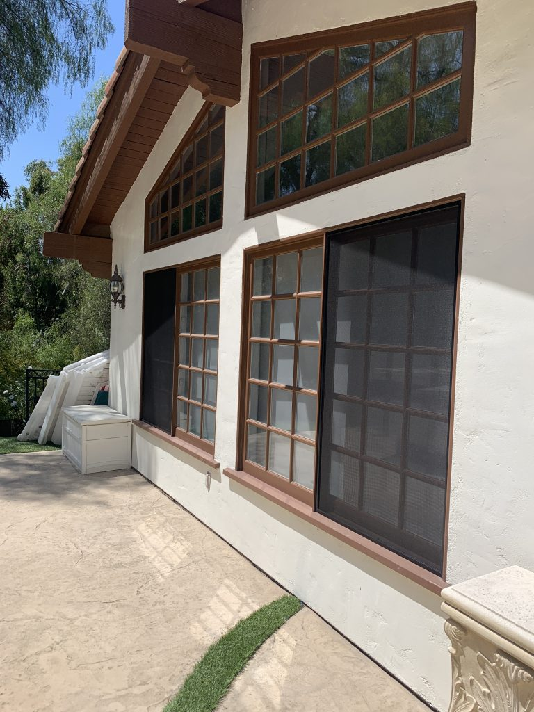 Black window screens in Agoura Hills