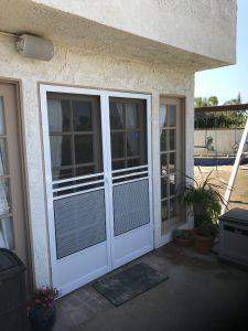 French doors with screen doors